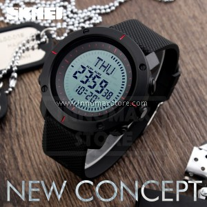 SKMEI Compass Watch 1216 - Compass World Time Stop Watch Water Resistant 50m