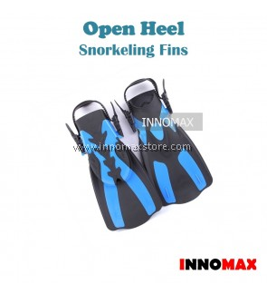 Open Heels Snorkeling Fins with Adjustable Straps