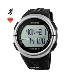 SKMEI Sports Watch 1058 - Heart Rate Pedometer Stop Watch Water Resistant 50m