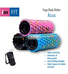 IMFIT Yoga Body Roller Acus 33cm - Durable Foam Roller Block with Massage Point