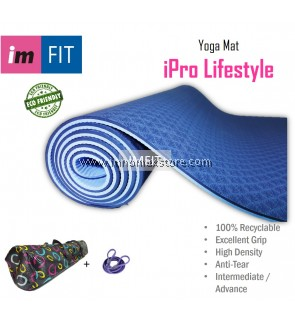 IMFIT Exercise Yoga Mat iPro Lifestyle 6mm Eco Friendly Anti Tear Odorless