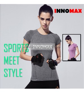 Cooldry Sports Short Sleeve Top - Women Sportswear for Yoga & Exercise
