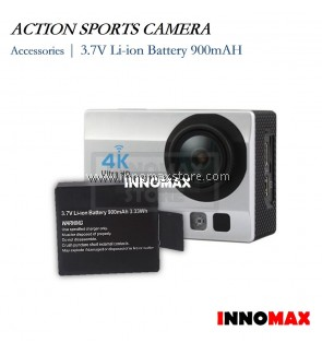 Action Sports Camera Battery 3.7v Li-ion 900mAH