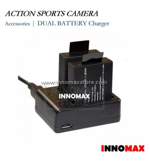 Action Sports Camera Dual Battery Charger