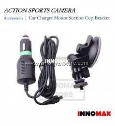 Car Charger Mount Suction Cup Bracket for Action Sports Camera