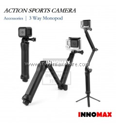 Action Sports Camera Monopod 3-Way Monopod