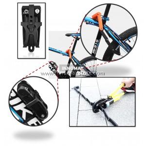 Bicycle Lock Upgrade Foldable Lock Anti-Theft Alloy Lock