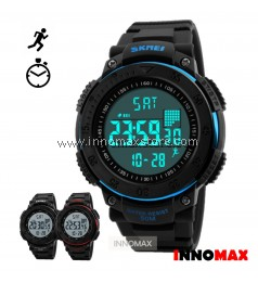 SKMEI Sports Watch 1238 - Pedometer Stop Watch Water Resistant 50m