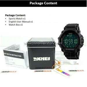 SKMEI Sports Watch 1249 - Bluetooth Pedometer Stop Watch Water Resistant 50m