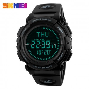 SKMEI Compass Watch 1290 - Compass World Time Stop Watch Water Resistant 50m