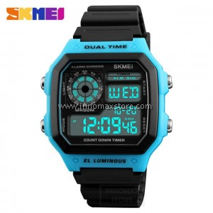 SKMEI Digital Watch 1299 - Classic Design - Chronograph 50m Water Resistance