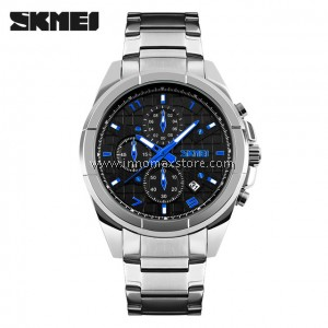 SKMEI Men Quartz Watch 9109 - Men Fashion Full Steel 5ATM