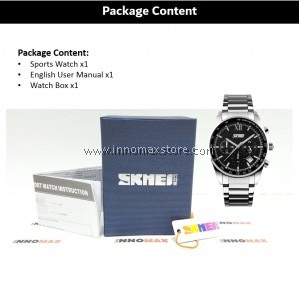 SKMEI Men Quartz Watch 9096 - Men Fashion Full Steel 5ATM