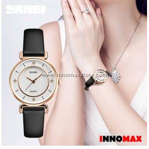 SKMEI Women Elegant Watch 1330 - Ladies Fashion Leather Strap