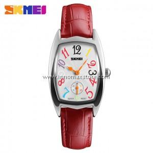 SKMEI Women Elegant Watch 1323 - Ladies Fashion Leather Strap