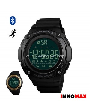 SKMEI Men Sports Watch 1347 - Bluetooth Pedometer Stop Watch Water Resistant 50m