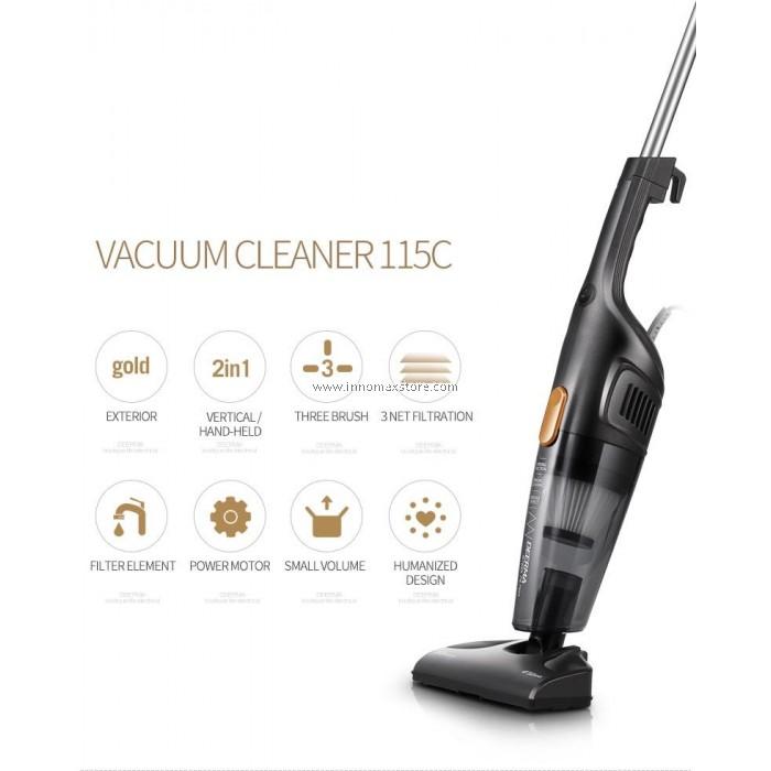 deerma portable handheld vacuum cleaner dx115c strong suction low noise. Black Bedroom Furniture Sets. Home Design Ideas