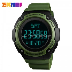 SKMEI Men Sport Watch 1346 - Dual Time Stopwatch Water Resistant