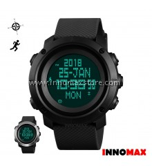 SKMEI Men Multifunction Sport Watch 1430 / 1431 Pedometer Compass WorldTime