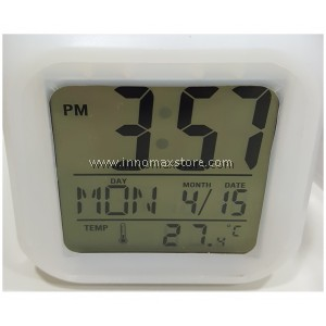 Digital Study Table Alarm Clock LED Rotational Light