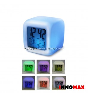 Digital Study Table Alarm Clock LED Rotational Light
