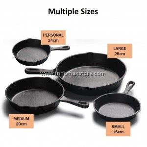 Cast Iron Skillet Pan Chemical Free Durable Fry Pan