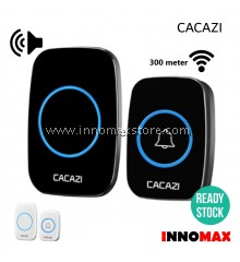 CACAZI Wireless Door Bell Water Resistant 60 Ringtones 300m Connectivity A10
