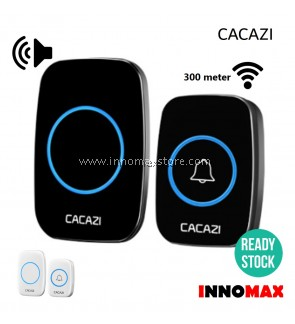 CACAZI Wireless Door Bell Water Resistant 38 Ringtones 300m Connectivity A10