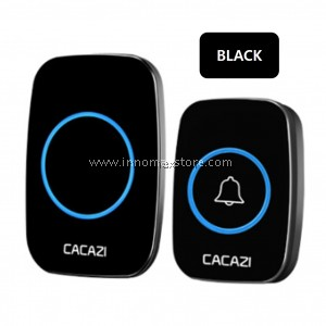 CACAZI Wireless Door Bell Water Resistant 60 Ringtones 300m Connectivity A10
