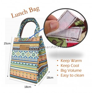 Graphic Insulated Lunch Box Carry Bag Cooler Thermal Bag