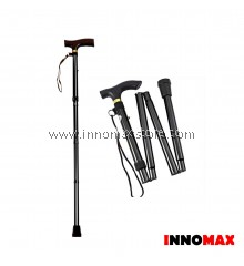 Folding Walking Stick Light Weight Anti Slip with Adjustable Height