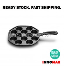 Cast Iron Grill Pan Takoyaki 12 Hole Chemical Free