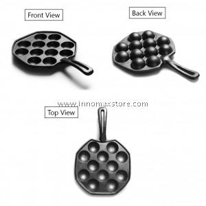 Cast Iron Grill Pan Takoyaki 12 Hole Chemical Free